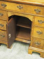 Neat George II Style Walnut Kneehole Desk (9 of 13)