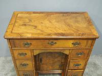 Neat George II Style Walnut Kneehole Desk (5 of 13)