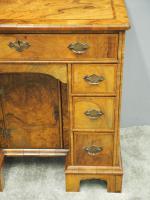 Neat George II Style Walnut Kneehole Desk (6 of 13)