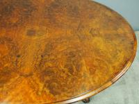 Large Victorian Burr Walnut Breakfast Table (8 of 13)