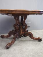 Large Victorian Burr Walnut Breakfast Table (11 of 13)