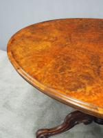 Large Victorian Burr Walnut Breakfast Table (5 of 13)