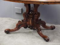 Large Victorian Burr Walnut Breakfast Table (10 of 13)