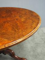 Large Victorian Burr Walnut Breakfast Table (6 of 13)