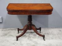 Regency Mahogany and Rosewood Foldover Card Table (4 of 10)