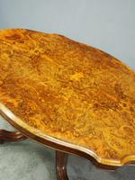 Victorian Burr Walnut Breakfast Table (3 of 11)