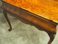 Matched Pair of Dutch Burr Walnut Silver Tables (11 of 14)
