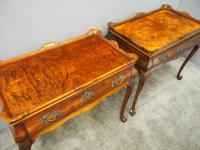 Matched Pair of Dutch Burr Walnut Silver Tables (8 of 14)
