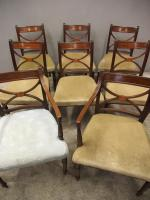 Set of 8 Regency Mahogany Dining Chairs (3 of 9)