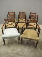 Set of 8 Regency Mahogany Dining Chairs (2 of 9)