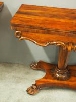 Pair of George IV Rosewood Card Tables (6 of 18)