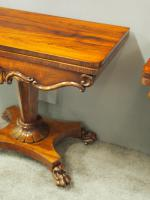 Pair of George IV Rosewood Card Tables (7 of 18)