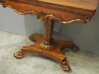 Pair of George IV Rosewood Card Tables (5 of 18)