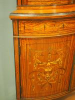 Victorian Satinwood Corner Cabinet On Stand (10 of 16)