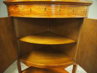 Victorian Satinwood Corner Cabinet On Stand (16 of 16)