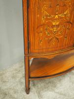 Victorian Satinwood Corner Cabinet On Stand (12 of 16)