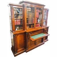William IV Mahogany Breakfront Secretaire Bookcase (2 of 11)