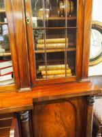 William IV Mahogany Breakfront Secretaire Bookcase (6 of 11)