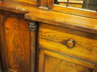 William IV Mahogany Breakfront Secretaire Bookcase (9 of 11)