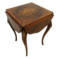 Late Victorian Walnut & Marquetry Folding Card Table