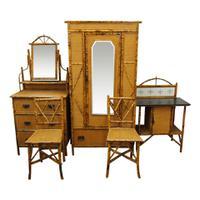 5 Piece Bamboo & Rattan Bedroom Suite