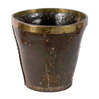Georgian Leather Powder Bucket