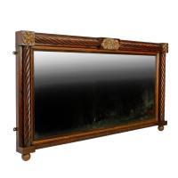 Regency Rosewood Overmantel Mirror