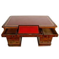 Fine Victorian Mahogany Partner's Desk (4 of 8)
