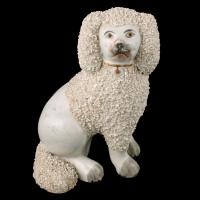 Pair of Victorian Staffordshire Poodles (2 of 7)