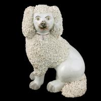 Pair of Victorian Staffordshire Poodles (4 of 7)