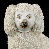 Pair of Victorian Staffordshire Poodles (5 of 7)