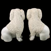 Pair of Victorian Staffordshire Poodles (6 of 7)