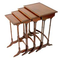 Nest of Four Regency Style Tables c.1900 (2 of 7)
