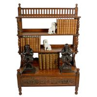 Arts & Crafts Oak Bookcase (4 of 8)