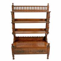 Arts & Crafts Oak Bookcase (3 of 8)