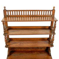 Arts & Crafts Oak Bookcase (5 of 8)