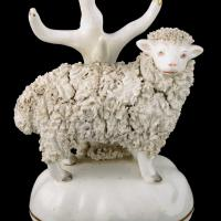 Pair of Victorian Staffordshire Sheep (4 of 8)