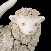 Pair of Victorian Staffordshire Sheep (6 of 8)