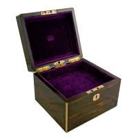 Coromandel & Brass Jewellery Box (3 of 9)