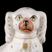 Pair of Victorian Staffordshire Dogs (3 of 7)