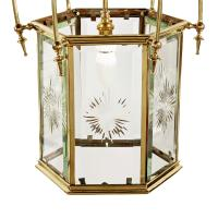 Edwardian Hexagonal Brass Hall Lantern (2 of 7)