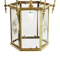 Edwardian Hexagonal Brass Hall Lantern (5 of 7)