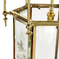 Edwardian Hexagonal Brass Hall Lantern (6 of 7)