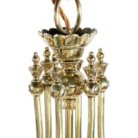 Edwardian Hexagonal Brass Hall Lantern (7 of 7)