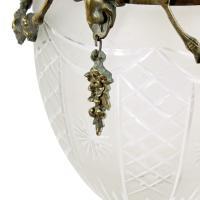 Opaque Glass & Brass Hall Lantern (6 of 8)