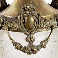 Opaque Glass & Brass Hall Lantern (4 of 8)