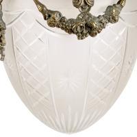 Opaque Glass & Brass Hall Lantern (5 of 8)