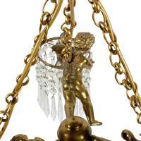 20th Century Winged Cherub Chandelier (5 of 8)