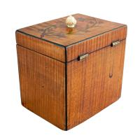 18th Century Satinwood Tea Caddy (8 of 8)