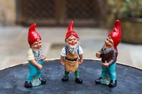 Three Vintage Heissner Gnomes
